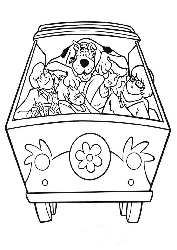 Znalezione Obrazy Dla Zapytania Kolorowanki Do Druku Scooby Doo