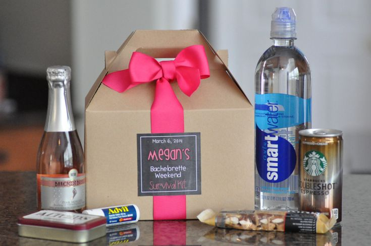 Bachelorette Party Survival Box Bridesmaid gifts by SweetTeaPaper, $21.00