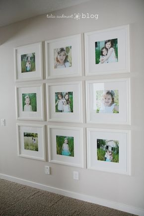Beautiful Love The Frames And Spacing. Link Through This Post To Show How To Hang  Photos