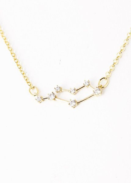 Gemini Constellation Zodiac Necklace  (05/22-06/21) - As seen in Real Simple - My Jewel Candy - 1