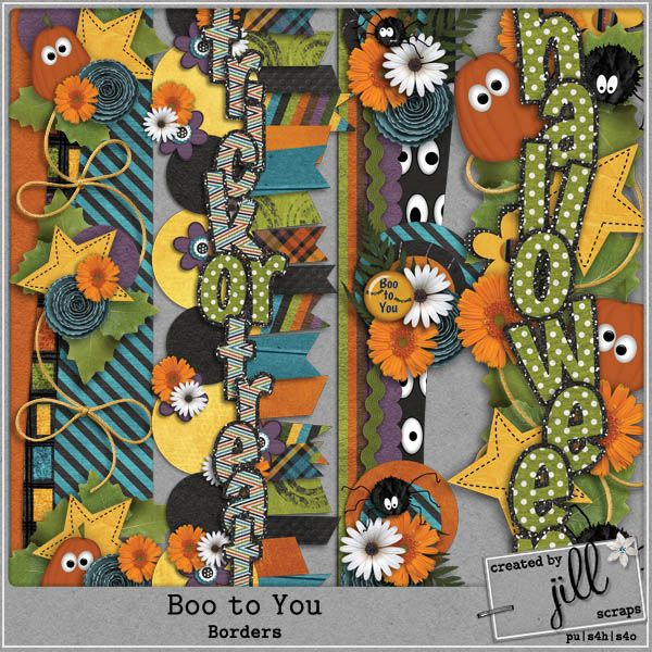 Boo To You - Borders  #digiscrap #digitalscrapbooking #scrapbooking…