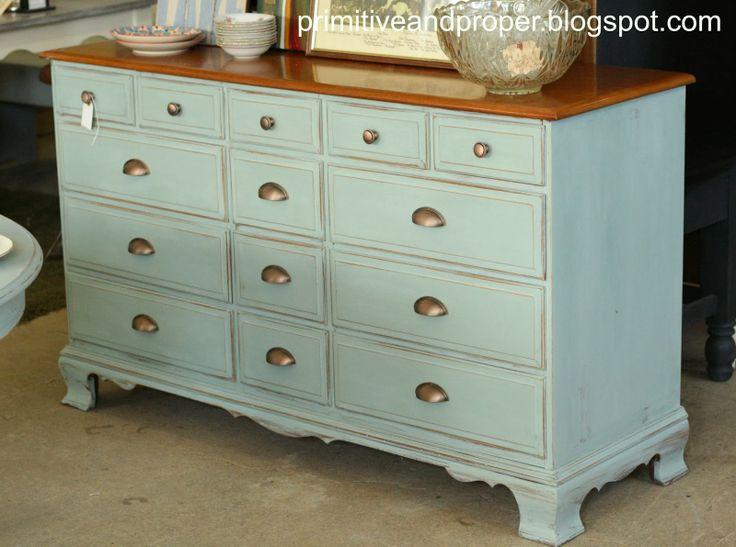 Primitive & Proper: Duck Egg and Copper Dresser