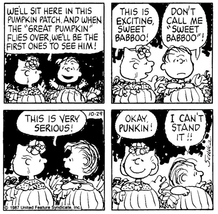 Snoopy - Great Pumpkin October 29, 1987