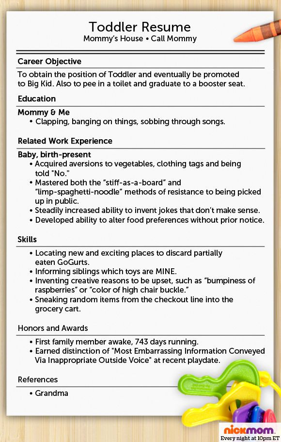 heres what your toddlers resume would look like more lols funny stuff for moms nickmom work stuff pinterest funny mom and love love love