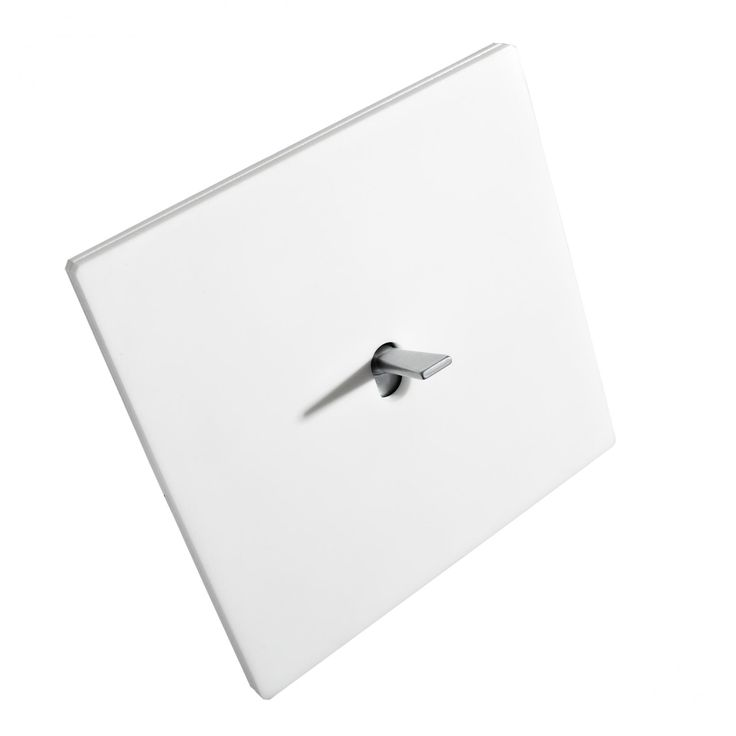 White Glacier Corian light switch by Font Barcelona _
