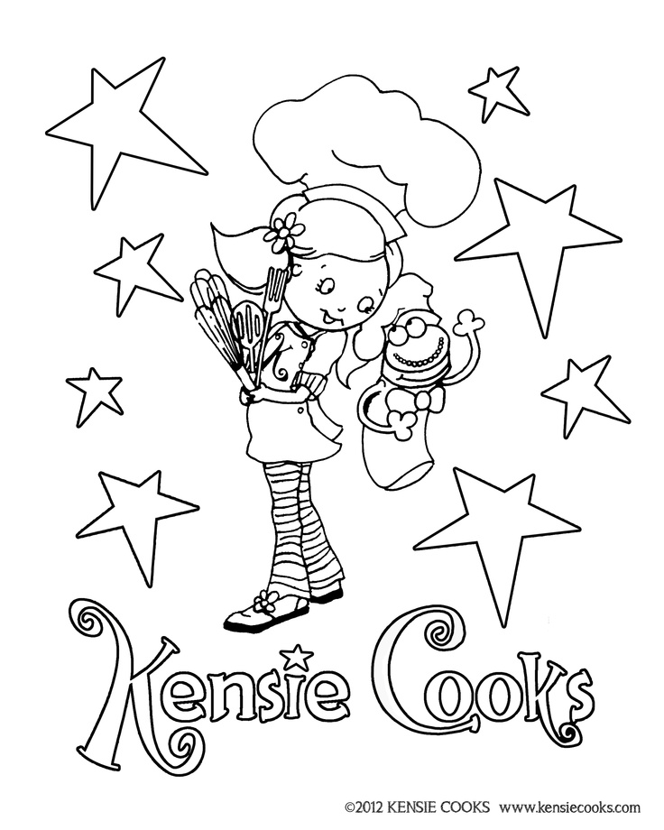 12 best Kensie Cooks Coloring Pages images on Pinterest Children