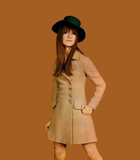 Cathy McGowan Schoolgirl Coat designed by Cathy McGowan in 1967. Photo by Tony Gale