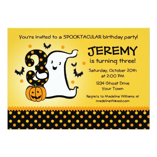 388 best 3rd birthday party invitations images on pinterest, Birthday invitations