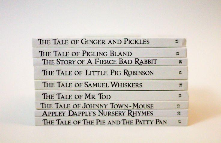 Vintage Beatrix Potter Book Set of 9 Classics (1986 editions) - Retro Kid's Books - Animal Books - The Fierce Bad Rabbit by StrikingThirteen on Etsy