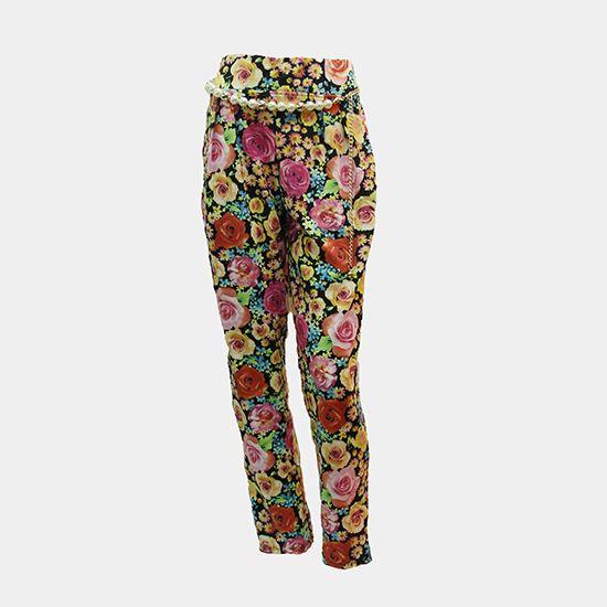 Celana Harem Bunga   • Ukuran: All Size • Bahan: Kaus • Warna: ✓ Ungu – Kuning ✓ Pink – Orange ✓ Pink – Putih