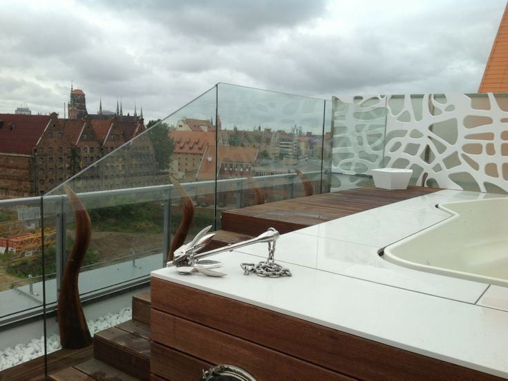 Balustrada Diamant oraz Ścianka ze szkła CrashGlass