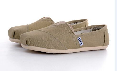 Womens Khaki Toms Classic Shoes