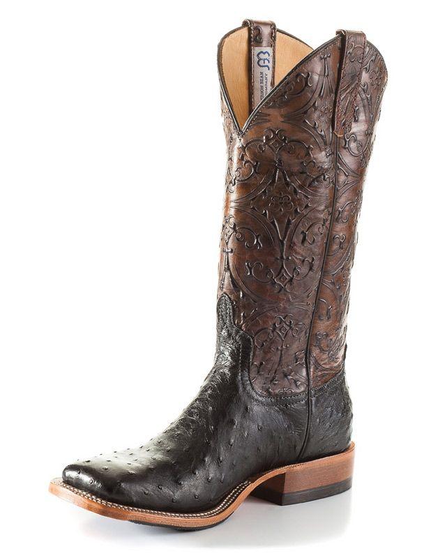 CowboyWarehouse: Anderson Bean Boots S3003 Black FQ Ostrich