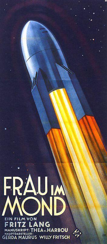Fritz Lang - Frau im Mond  Filmplakat / Movie Poster