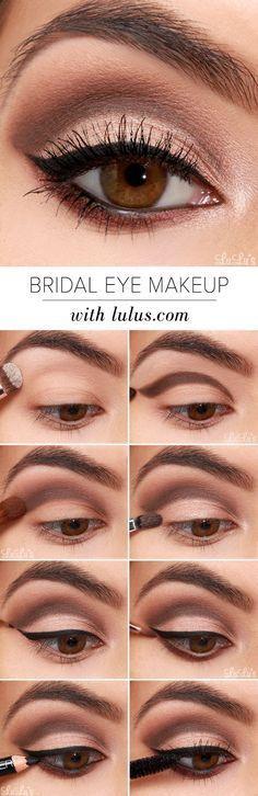 beautiful idea for bohemian bridal make up