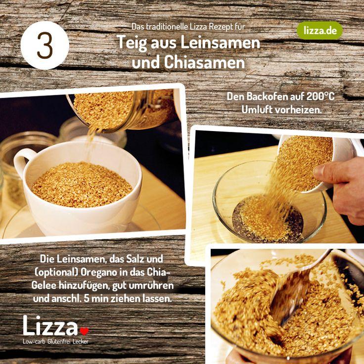 Low-carb Pizza Teig aus Chia- und Leinsamen Schritt 3