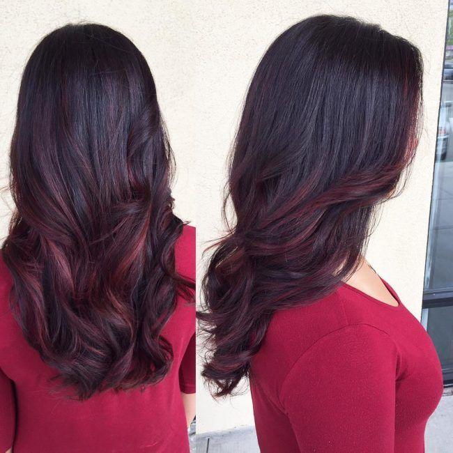 The 25 best burgundy balayage ideas on pinterest dark red 30 blushing burgundy ombre hair ideas ravishing in red hairstylezz pmusecretfo Gallery