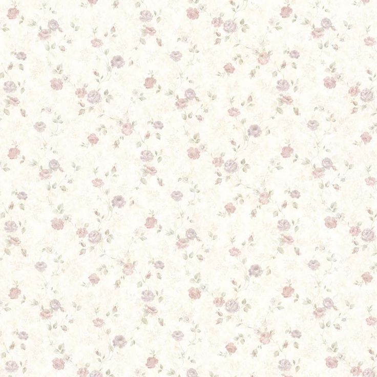 Vintage Rose englische Landhaus Satintapeten kleine rankende Rosen Art.-Nr.: 68347