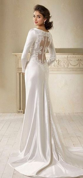 Wholesale Vintage A-Line Deep V-Neck Illusion Lace Back Long Sleeves Floor-Length Wedding Dresses (vestidos de novia bella swan), Free shipping, $140.42/Piece | DHgate Mobile