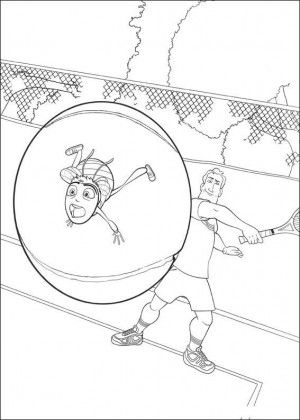 Bee movie coloring page 6