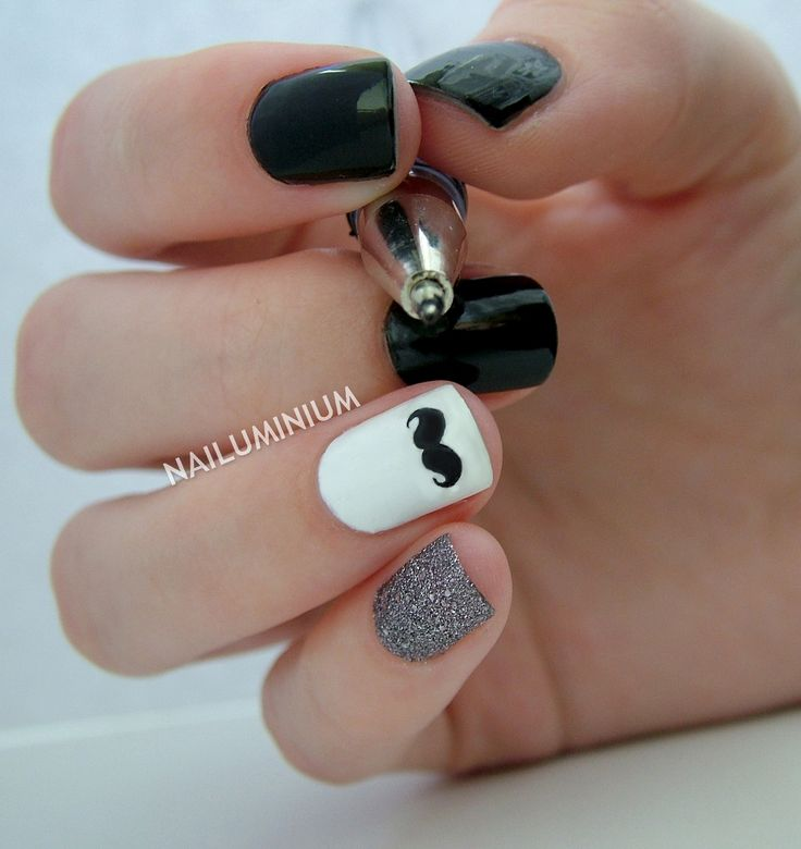 Moustache Nails for Movember