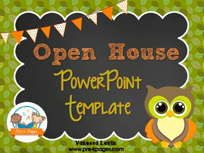 Owl Open House PowerPoint Template for #preschool and #kindergarten $2