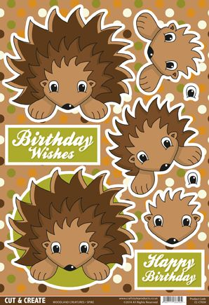 Buzzcraft Woodland Creatures Cut & Create - Spike Hedgehog