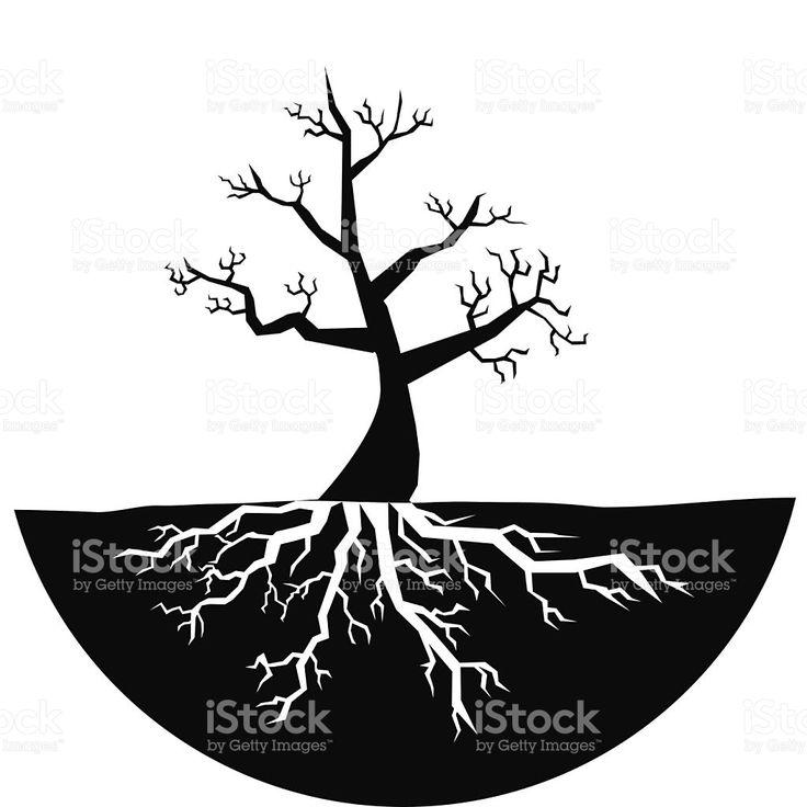 Силуэт дерева без листьев ВЕКТОР роялти-фри стоковый вектор искусства