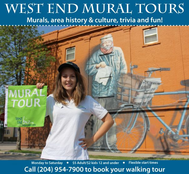Colourful and creative murals represent this neighbourhood's diverse ethnic community. Take a walking tour with a knowledgeable guide.  Win your Winnipeg adventure including flight, hotel and an adventure YOU choose! Visit http://www.tourismwinnipeg.com/pin-and-winnipeg to enter!