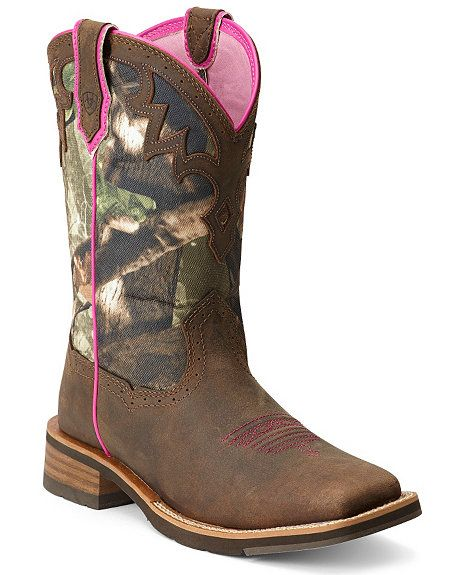 Ariat Unbridled Camo Cowgirl Boots
