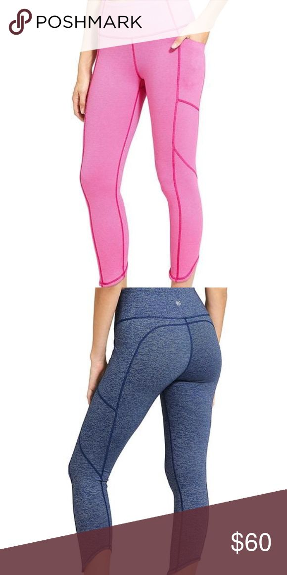 Athleta pink high rise pixel chat to town Capri High rise chaturanga to town Capri Tight is fully equipped to take on your post-yoga explorations with easy-access pockets that fit your smartphone.  INSPIRED FOR: yoga, studio workouts, adventure To Fro UNPINCHABLE WAISTBAND. 3-layer inner mesh construction smooths over your midsection for a no-muffin-top zone 3 pockets: 2 easy-access leg pockets stash your smartphone and more, 1 internal key Asymmetrical hem for easier on/off Flatlock seams…