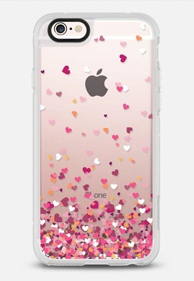 Confetti Hearts iPhone 6s case by Ruby Ridge Studios | Casetify