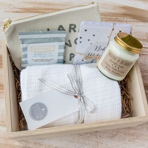 New Mum And Baby Gift Box. Discover thoughtful, personal and wonderfully unique gifts for fashion-lovers now. As seen at Stylist Live.
