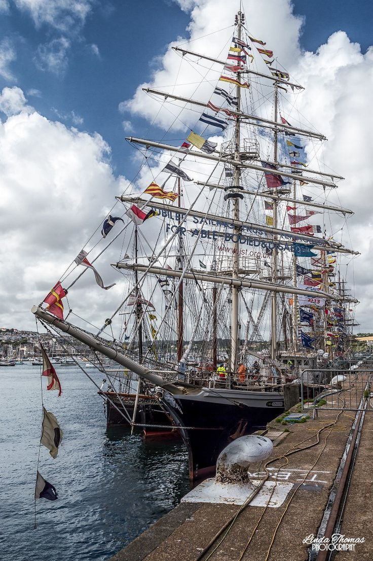 Tall Ships in Falmouth by Linda Oraya