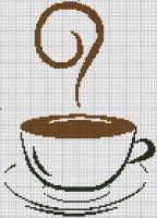 """Сообщество """"Вишивальна скринька."""". Чашка кофе. Монохром. Схемы для вышивки., Блог пользователя Juliy"""