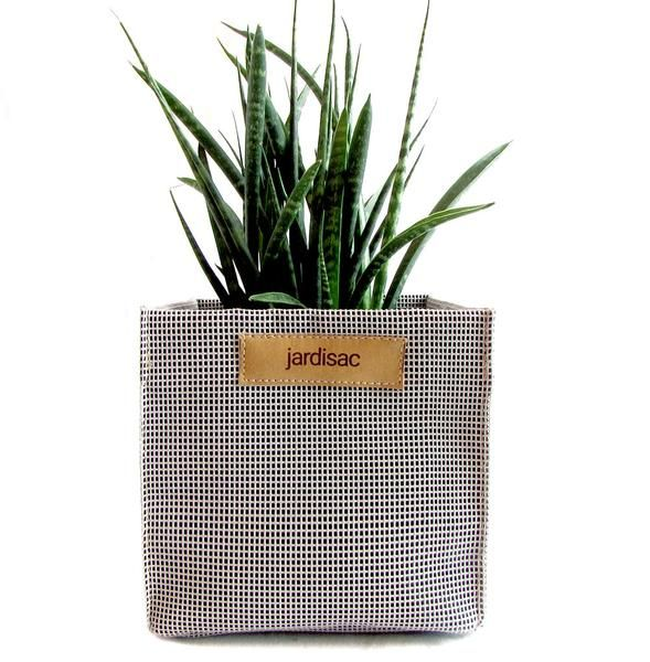 square plant pots grey in geotextile planter boxe for flower