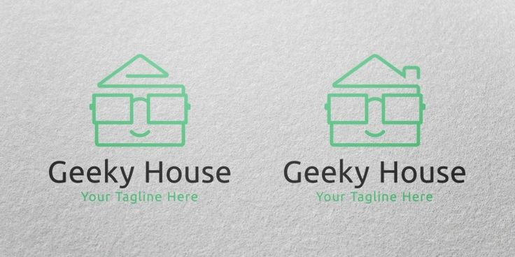 Geeky House Logo Template for Sale