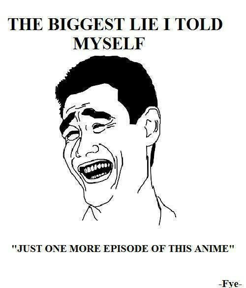 Has happened too many times. The same goes for reading manga, too. I did that last night. Ouch.