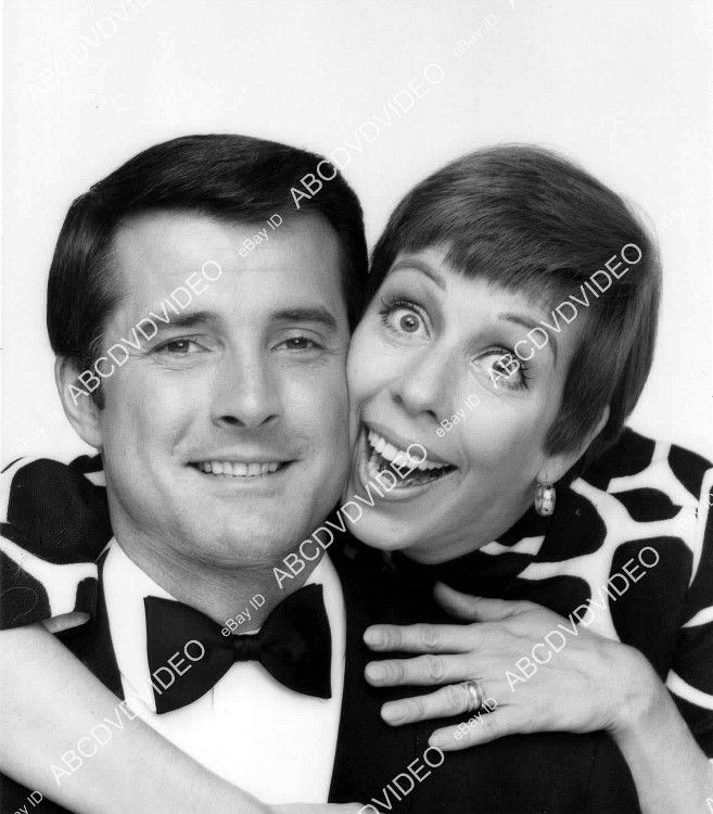 "Press photo of Lyle Waggoner and comedienne/actress Carol Burnett  for the TV variety show ''The Carol Burnett Show,"" late 1960's."