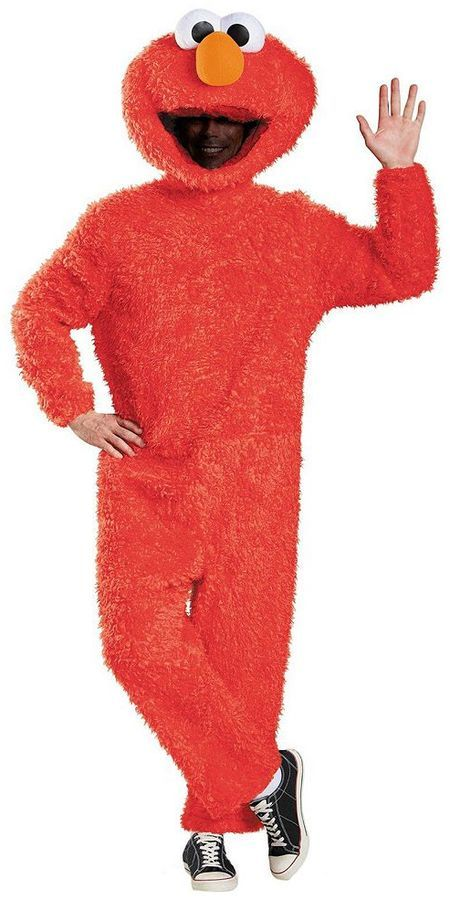 Sesame Street Plush Prestige Elmo Costume - Adult Plus