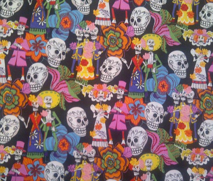 "Day of the Dead Alexander Henry Collection - ""los novios"""