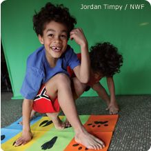 Animal Tracks Twister Game - National Wildlife Federation...Great for a forest theme!