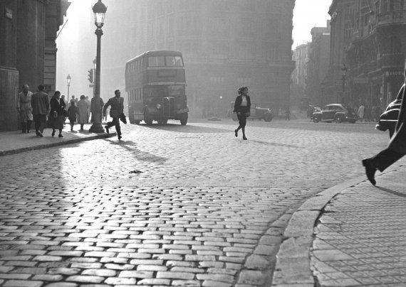 Francesc Català Roca :: Via Laietana, Barcelona, 1950's