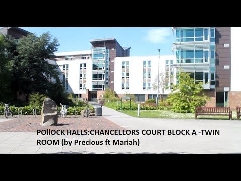 pollock halls accomodation :Chancellors court twin room (Watch in HD)