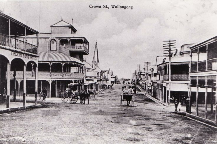 Crown St,Wollongong,in the south coast of New South Wales (year unknown).