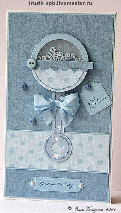 Открытка с рождением ребенка ручной работы, для открыток красивую
