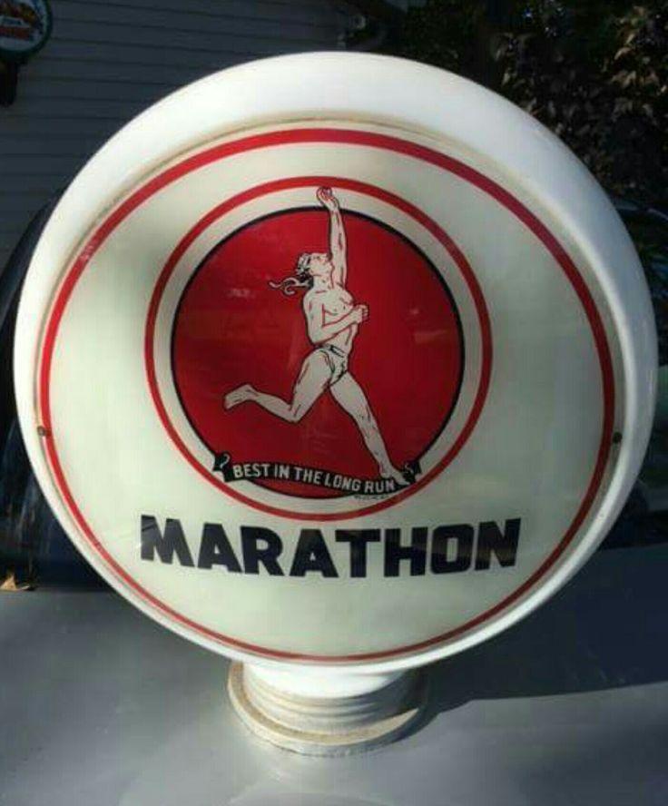 "Original Marathon ""Best In The Long Run"" Gas Globe"