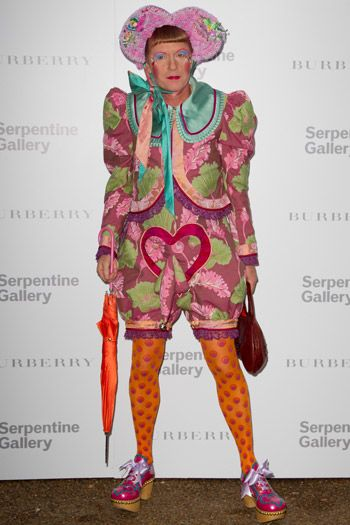 "Grayson Perry's alter ego ""Claire"" http://thepinksnout.wordpress.com/2012/08/31/grayson-perry/"