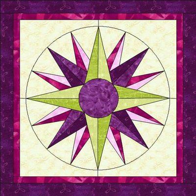 17 Best Images About Quilts Mariners Compass Dresden