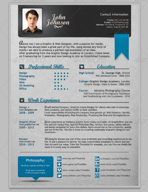 25 best resume images on Pinterest Resume, Resume design and